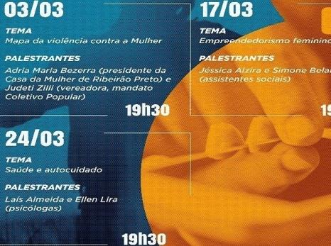 Mês da Mulher em Sertãozinho contará com palestras virtuais no Facebook da Prefeitura Municipal